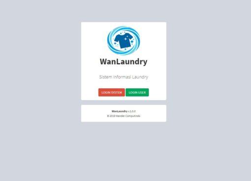 WanLaundry Sistem Informasi Laundry