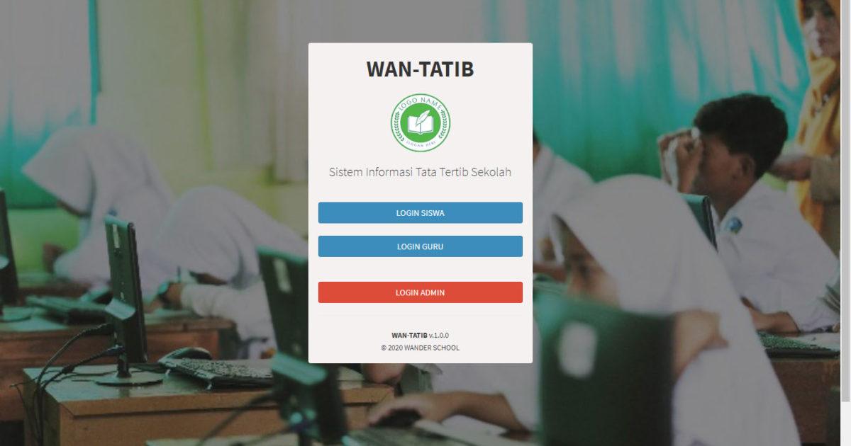 Aplikasi Tata Tertib Sekolah - WanTatib