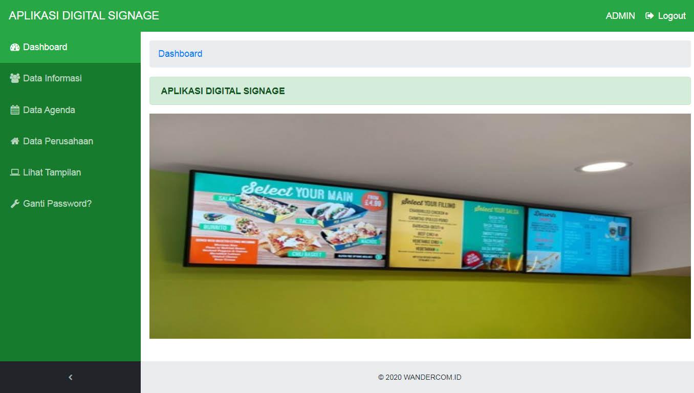 WanDigs - Aplikasi Digital Signage